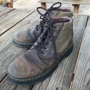 Dr Martens Mid Boot Olive Canvas - SZ 11 Men's